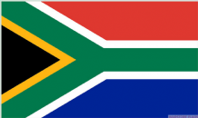 SOUTH AFRICA - 8 X 5 FLAG